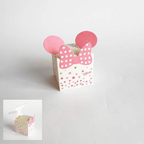 Detalle Caja Cubo Confeti Minnie Disney Rosa Set 20 Piezas Art 68063