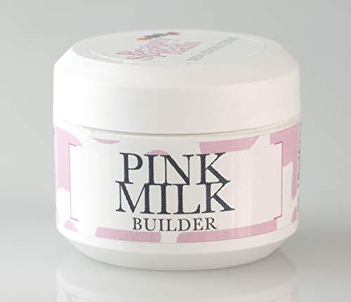 Beauty Space Nails – Gel constructor rosa leche para reconstrucción de uñas, cubiertas y rellenos – Pink Milk – 50 ml
