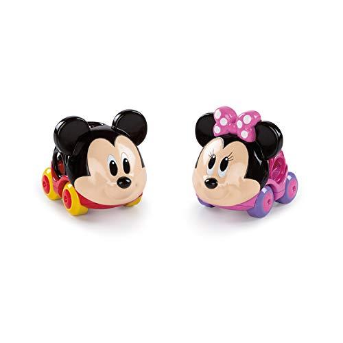 Bright Starts, Disney Baby Pack 2 Vehículos Mickey y Minnie, Colección Oball Go Grippers
