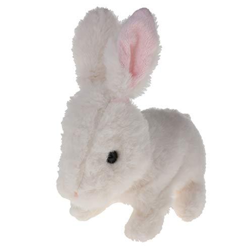 Juguete de Animales de Electrónico Peluche Conejo Juego Interactivo para Bebé - Blanco