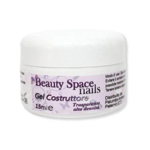 Beauty Space Nails - Gel de modelaje transparente para uñas (15 ml)
