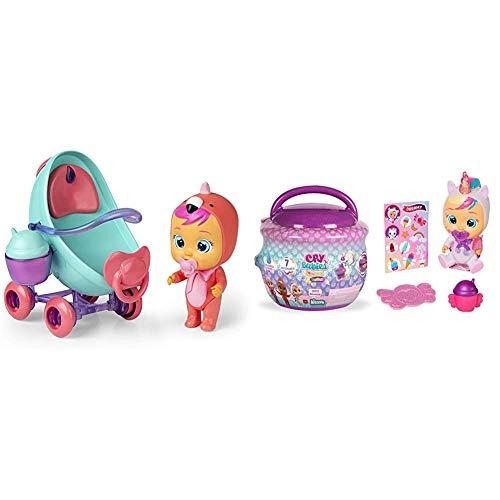 Imc Toys - Bebés Llorones Lágrimas Mágicas, Coche de Fancy (97957) + Toys- Bebés Llorones Lágrimas Mágicas, Bibe Casita - Chupete (97971) , Color/Modelo Surtido