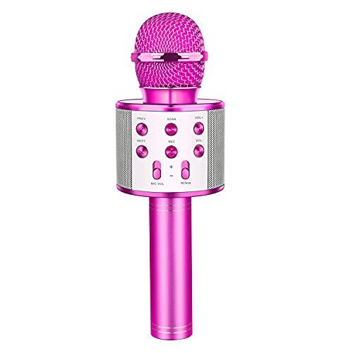Letsgocoo Regalos para Niña de 4-12 Años, Microfono Karaoke Bluetooth Juguetes para Niños de 4-12 Años Regalos Niña Dinámicos Juguetes para Niña de 4-13 Años Microfono Niña