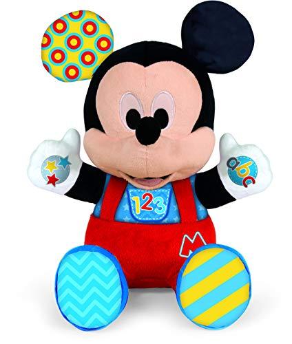Clementoni-55324 - Peluche Baby Mickey - peluche bebé interactivo de Disney a partir de 6 meses