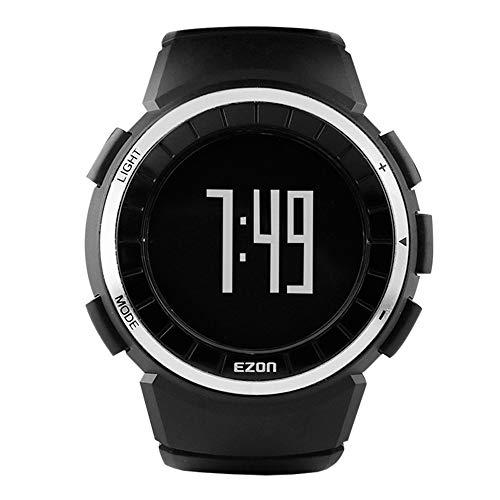 EZON Relojes Digitales Deportivos para Hombres con Contador de calorías y podómetro T029 Negro