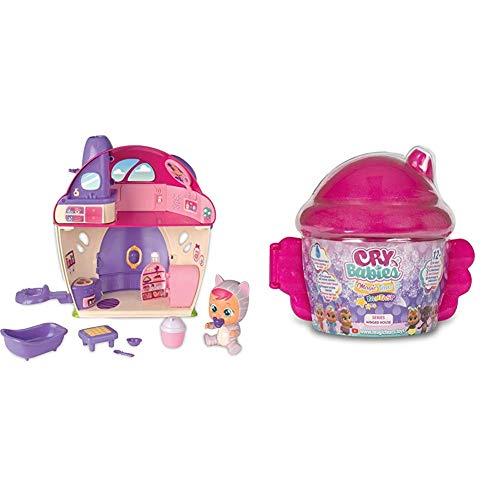 IMC Toys - Bebés Llorones Lágrimas Mágicas La Mega casa de Katie (97940) + Bebés Llorones Lágrimas Mágicas - Muñecas Serie Casita Alada, 90378IMBE