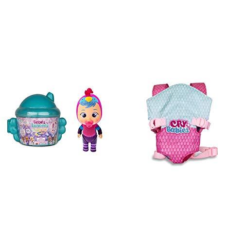 IMC Toys Bibe Casita Alada de Bebés Llorones Mini Lágrimas Mágicas Fantasy + Bebés Llorones, Portabebés (90019)