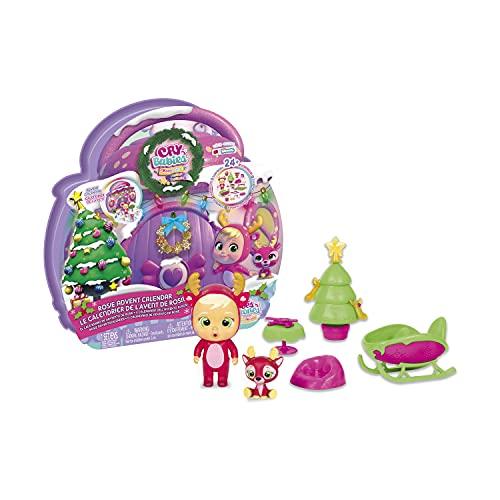 Bebés Llorones Lágrimas Mágicas, Calendario de Adviento de Rosie   Calendario Navidad con muñeca Exclusiva Rosie, su Mascota y 22 sorpresas Accesorios para Jugar   Regalo para niños +3 años