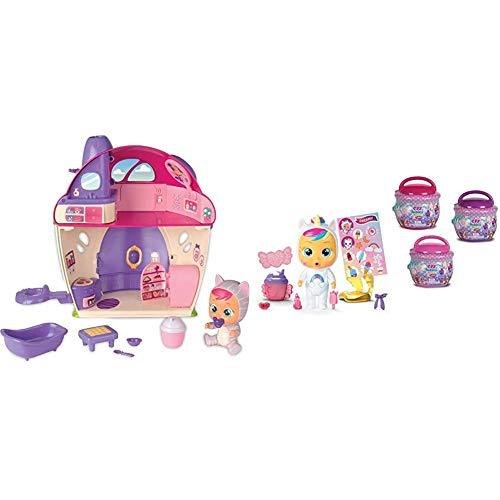 IMC Toys - Bebés Llorones Lágrimas Mágicas La Mega casa de Katie (97940) + Toys- Bebés Llorones Lágrimas Mágicas, Bibe Casita - Chupete (97971)