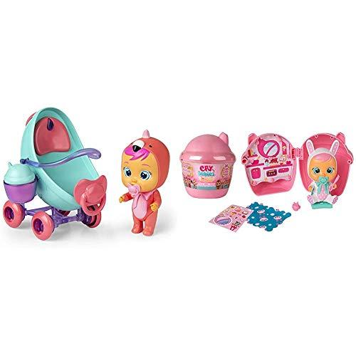 IMC Toys - Bebés Llorones Lágrimas Mágicas, Coche de Fancy (97957) + 98442 Toys Bibe Casita Wave 3 - Muñeca Multicolor, Modelos Surtidos