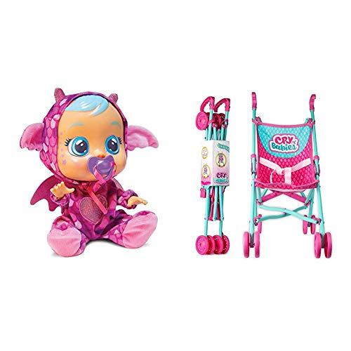 IMC Toys - Bebés Llorones Fantasy, Bruny (99197) + 99999 - Bebés Llorones, Sillita de Paseo , Colores/Modelos Surtidos, 1 Unidad