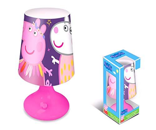 Nickelodeon Peppa Pig - Lámpara de noche (18 x 10 cm), color morado y rosa
