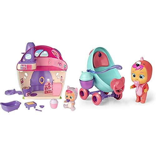 IMC Toys - Bebés Llorones Lágrimas Mágicas La Mega casa de Katie (97940) + Toys - Bebés Llorones Lágrimas Mágicas, Coche de Fancy (97957)
