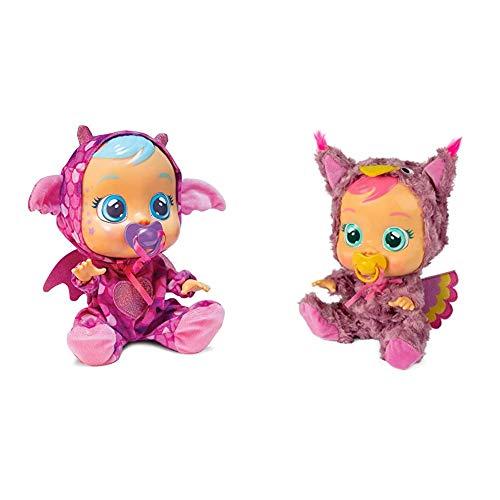 IMC Toys - Bebés Llorones Fantasy, Bruny (99197) + Bebés Llorones Pijama Búho (99159)
