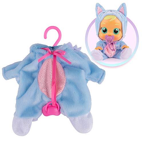 BEBES LLORONES Fantasy - Pijama Zorro azul con chupete, ropa para Bebé Llorón