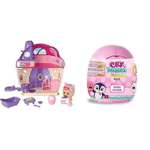 IMC Toys - Bebés Llorones Lágrimas Mágicas La Mega casa de Katie (97940) + Bebés Llorones Lágrimas Mágicas- Pet S House, Colores Surtidos, Talla Única 91085IMBEV