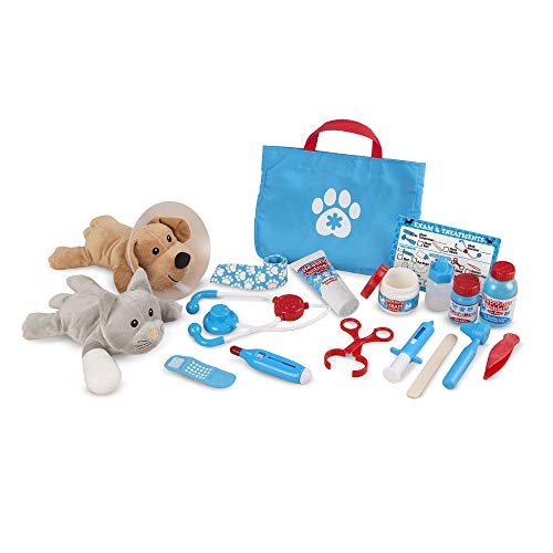 Melissa & Doug Melissa & Doug Examine and Treat Pet Vet Play Set (24 Pcs) , Multicolor (Melissa & Doug 18520)