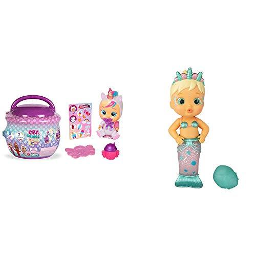 IMC Toys- Bebés Llorones Lágrimas Mágicas, Bibe Casita - Chupete (97971) , Color/Modelo Surtido + Toys - Bloopies Sirenas, Flowy (99654)