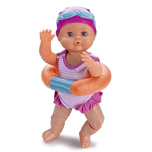 Nenuco - Nadador, este divertido juguete nada como un bebé de verdad, mueve sus piernas en el agua, es resistente al agua de bañera y piscina, tiene un accesorio churro flotador. FAMOSA (700014071)