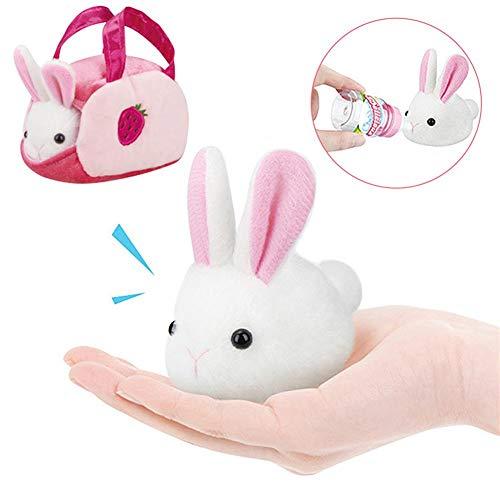 Oshide Juguete Lindo de Conejo de Felpa para niños Juguete de muñeca de Conejito de Felpa Juguete de simulación Juguete de Conejo para niñas Forma de Rompecabezas de Felpa para niños