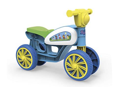 Chicos Mini Custom Peppa Pig. Correpasillos con 4 Ruedas. +10 Meses, Color Azul (La Fábrica de Juguetes 36030)