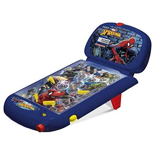 IMC Toys Mesa de Pinball con luces y sonidos, Spiderman, 1m+ (43-550117) azul