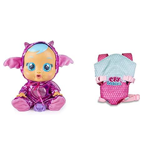IMC Toys - Bebés Llorones Fantasy, Bruny (99197) + Bebés Llorones, Portabebés (90019)