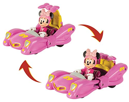 Mickey Mouse- Minnie Vehículo de Juguete, Transformable, Multicolor (IMC Toys 184237)