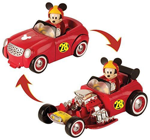Mickey Mouse-182813 TRANSFORMABLE DOGGIN' Hot Road, Multicolor (Propio 182813)