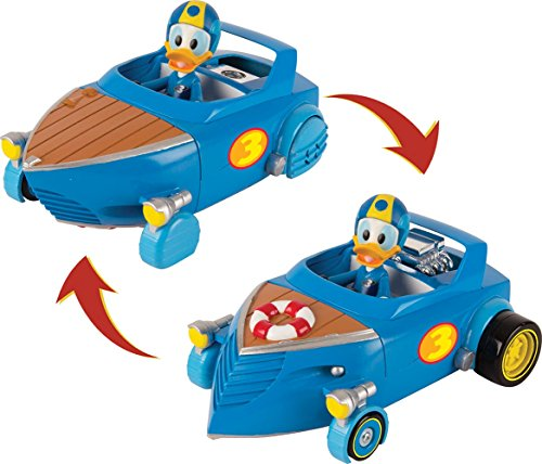 IMC Toys- Cabin Cruiser Figurina Donald con su Coche Transformable, Multicolor (182820)