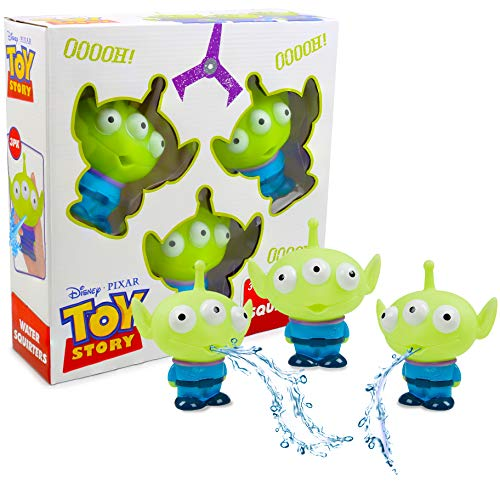 Set De 3 Pequeñas Figuritas Aliens De Toy Story para Niños | Juguetes De Baño para Niños, para La Hora del Baño O para La Piscina | Juego De Agua Infantil para Exterior O Interior