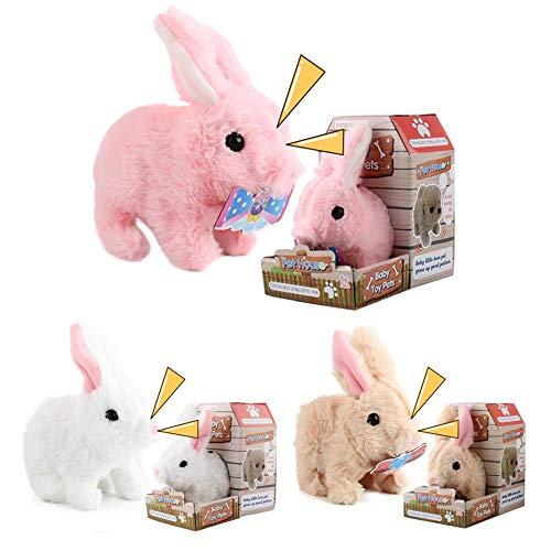 Conejito de peluche, Juguetes electrónicos para conejos, Conejo de peluche, Juguete interactivo de conejo suave y cómodo, Robot de peluche Conejo Bebé Juguetes para niños Niños Niños Niñas