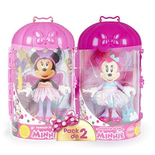 IMC Toys - Pack de 2 Minnie Fashionista Kawaii Unicornio & Fée-186279-Disney, 186279