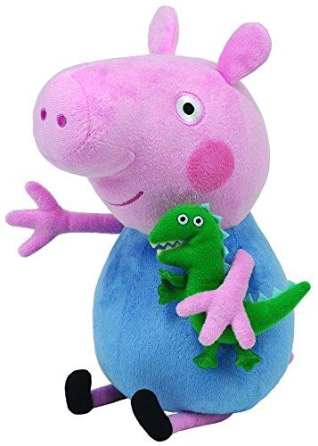 Ty Peppa Pig George - Peluche, Peppa le cochon, Peppa Large, 28 cm