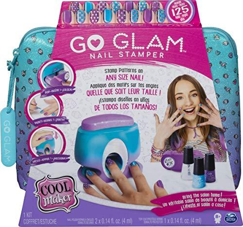Spin Master- Cool Maker GoGlam Nail Studio GO GLAM - Sello de uñas con 5 patrones, Versión importada, Multicolor (6045484) , color/modelo surtido