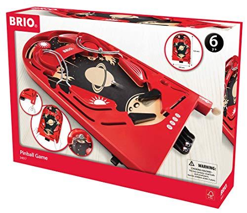 BRIO Pinball Game Niños y Adultos Juego de Habilidades motrices Finas - Juego de Tablero (Juego de Habilidades motrices Finas, Niños y Adultos, Niño/niña, 522 mm, 339 mm, 117 mm)