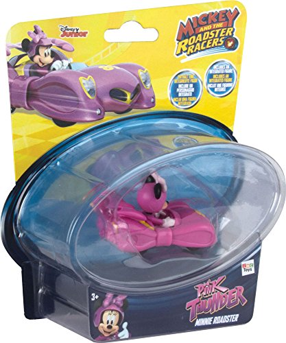 Mickey Mouse- Mini Vehículos: Minnie's Pink Lightning, Multicolor (IMC Toys 182851)