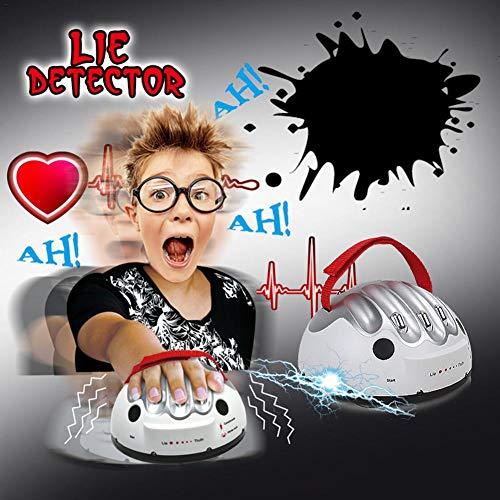 Detector de mentiras eléctrico, Juego novedad Interesante Micro Electric Shocking Juego detector mentiras mentiroso, Juego detector mentiras para adultos, Juguete prueba corriente segura Verdad Juego