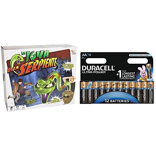 IMC Toys - La joya de la serpiente (9714) con Duracell Ultra Power - Pack DE 12 Pilas alcalinas AA