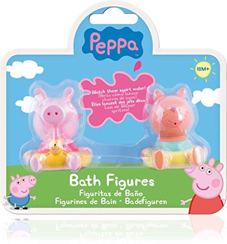 IMC Toys - Peppa Pig pack de 2 muñecos para baño (360082), modelos surtidos