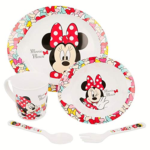 SET MICRO BABY 5 PCS. MINNIE MOUSE - DISNEY - COLOR BOWS